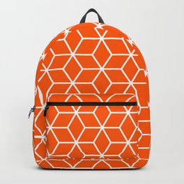Unapologetic Orange in Cubes Backpack