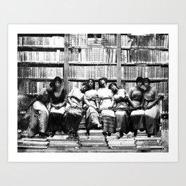 Library Pimpin Art Print