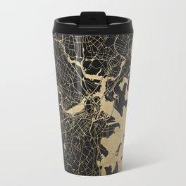 Boston Gold and Black Invert Travel Mug