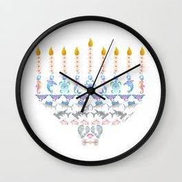 Marine Menorah Wall Clock