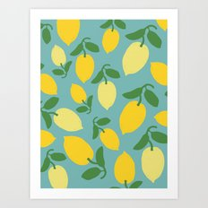 Le Citron Art Print