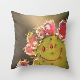 Chuckling Cholla Throw Pillow