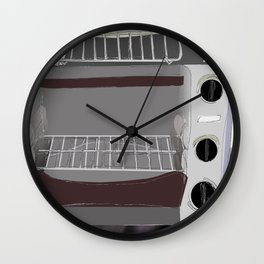 Toster Oven In Progress Wall Clock