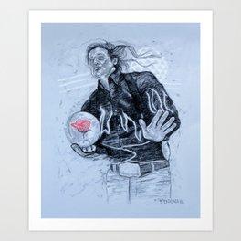 big ern mccracken- KINGPIN Art Print