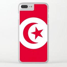 Flag of Tunisia Clear iPhone Case