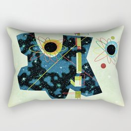 Retro Atomic factory cosmic splender Rectangular Pillow