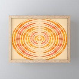 Orange Floral Pattern Framed Mini Art Print