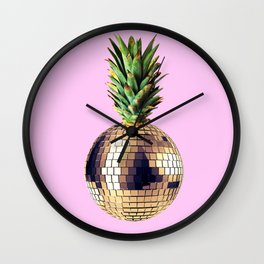 Ananas party (pineapple) Pink version Wall Clock