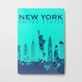 New York City Vintage Poster Metal Print