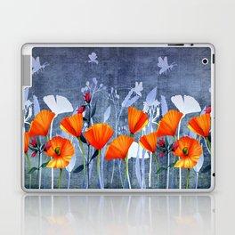 Summer night- Shadow of a Poppy meadow- Flowers Laptop & iPad Skin