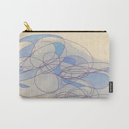 Blue Puff Carry-All Pouch