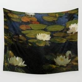 Waterlilies by Albert Edelfelt Wall Tapestry