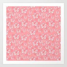 Pink Floral Design Art Print