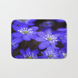 First Spring Flowers in Forest Bath Mat