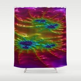 Brocaded Geyser Fractal Design 1 Shower Curtain
