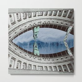 Eye Building Metal Print