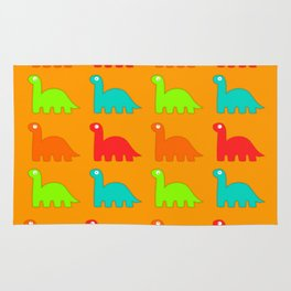 Cute Dino Pattern Walking Dinosaurs Rug