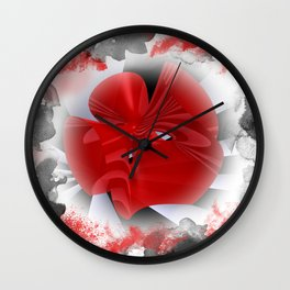 red polynomial flower -1- Wall Clock