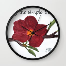 Enjoy the Simple Things Wall Clock