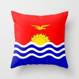 Kiribati country flag Throw Pillow