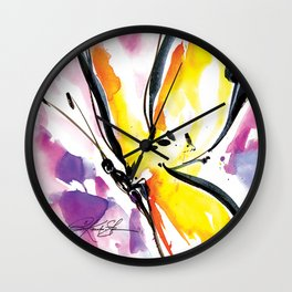 Butterfly Song No. 50 by Kathy Morton Stanion Wall Clock