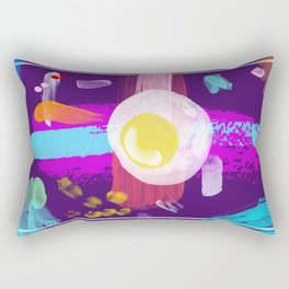 Abstract background created with different brushes Rectangular Pillow