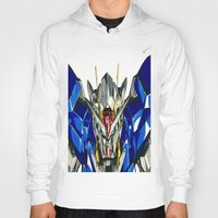 gundam Hoodies featuring Gundam 00 by Glen Howy