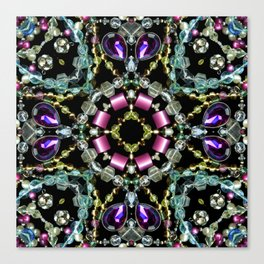 Bling Jewel Kaleidoscope Scanography Canvas Print