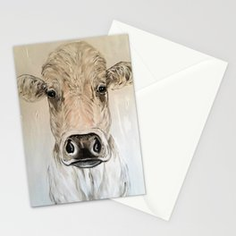 Cow named Mitch.  Cow Painting Cow Art Stationery Cards