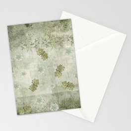 Sage Green Wallflowers Stationery Cards