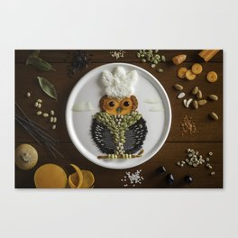 Smart Chef Owl Canvas Print