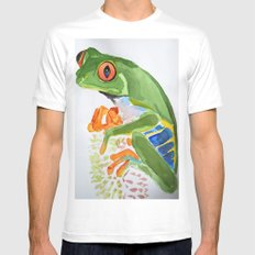 Frog MEDIUM White Mens Fitted Tee