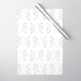 Alas, poor Sparrow! | Black on White Wrapping Paper