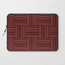Wooden red tiles pattern decoration Laptop Sleeve