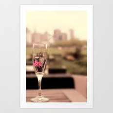 City Drinks Art Print