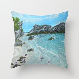 Seascape- 'Hidden Cove' Throw Pillow