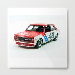BRE Racing 510 Vintage JDM SCCA Championship Classic Automobile No. 2 Metal Print