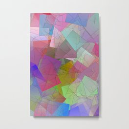 Abstract cubsm -3- icy breeze Metal Print