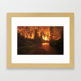 """Fire in the Woods"" Framed Art Print"