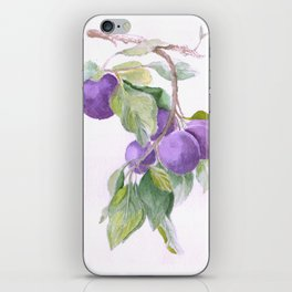 Plums iPhone Skin