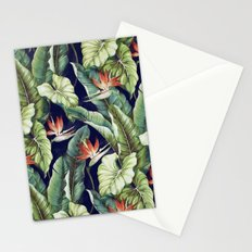 Night tropical garden II Stationery Cards