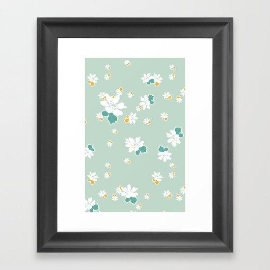 Ditsy - Eggshell Framed Art Print
