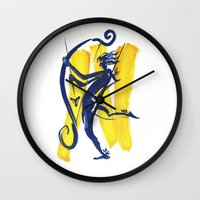 archer Wall Clocks featuring The Archer by coconuttowers