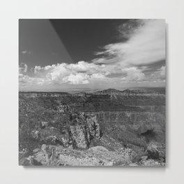 North_Rim Grand_Canyon, AZ - B&W I Metal Print