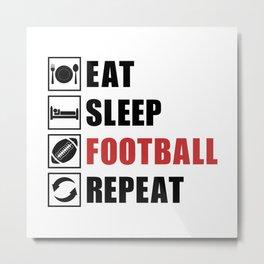American Football Repeat Team Game USA Gift Idea Metal Print
