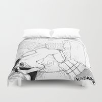 apollonia Duvet Covers featuring asc 547 - My New Year's resolutions - November by From Apollonia with Love