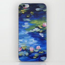 Rendition of Water Lilies iPhone Skin