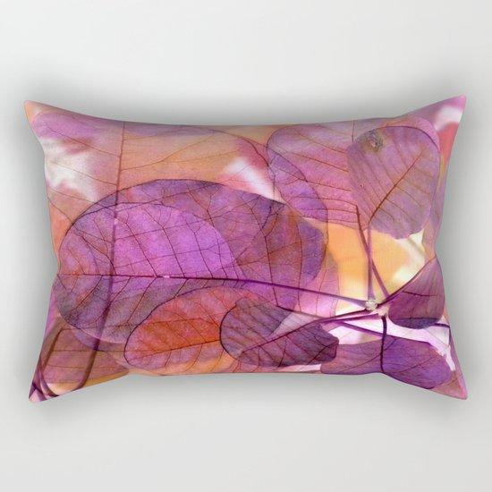 Purple Foliage Rectangular Pillow