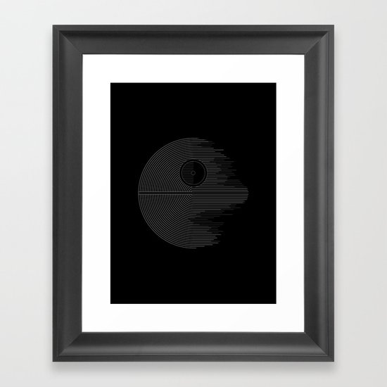Minimalist Battlestation Framed Art Print