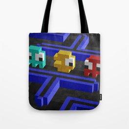 Pac-Man's dilemma Tote Bag